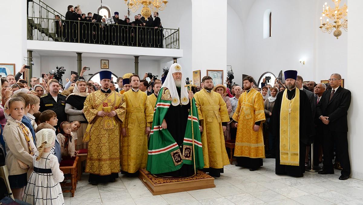 Предстоятель Русской Православной Церкви совершил Литургию в храме Казанской иконы Божией Матери в Гаване