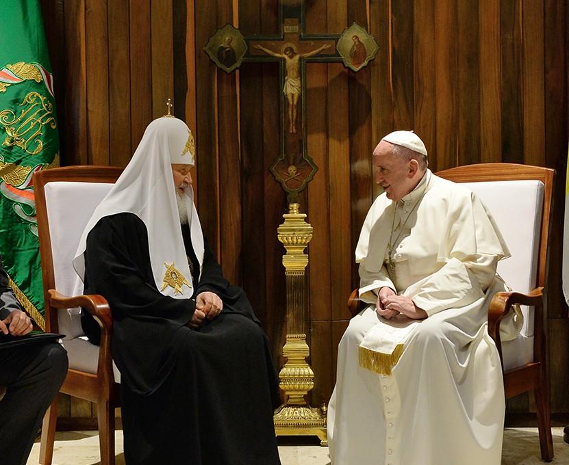 Встреча Святейшего Патриарха Кирилла и Папы Римского Франциска