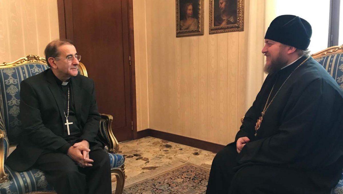 Епископ Богородский Матфей встретился с новоназначенным архиепископом Милана