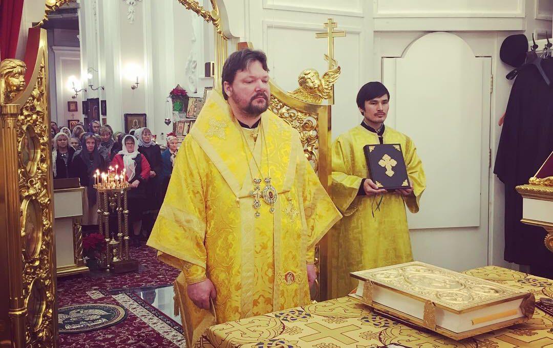 Епископ Иоанн возглавил престольные торжества храма во имя святого апостола Андрея Первозванного в Неаполе