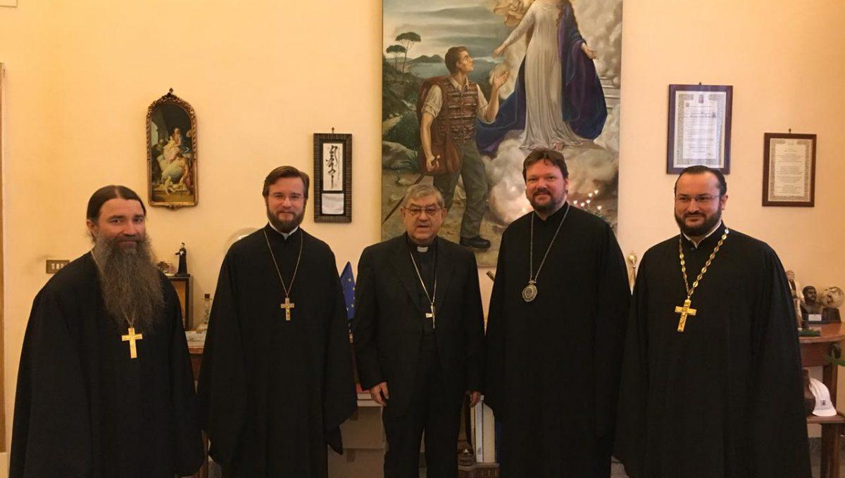 Состоялась встреча кардинала Неаполя Крешенцио Сепе и епископа Богородского Иоанна