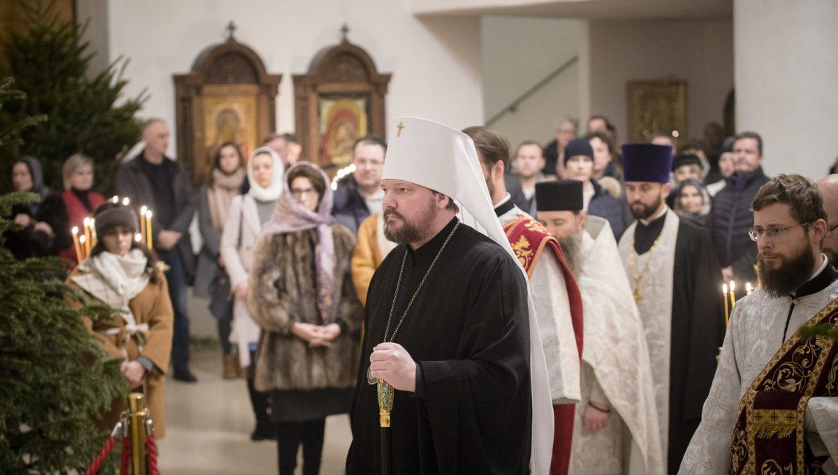 Митрополит Корсунский и Западноевропейский Иоанн совершил в Париже череду рождественских богослужений