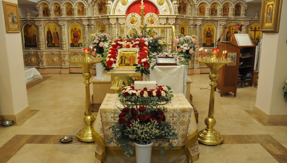 Престольный праздник храма святых Константина и Елены