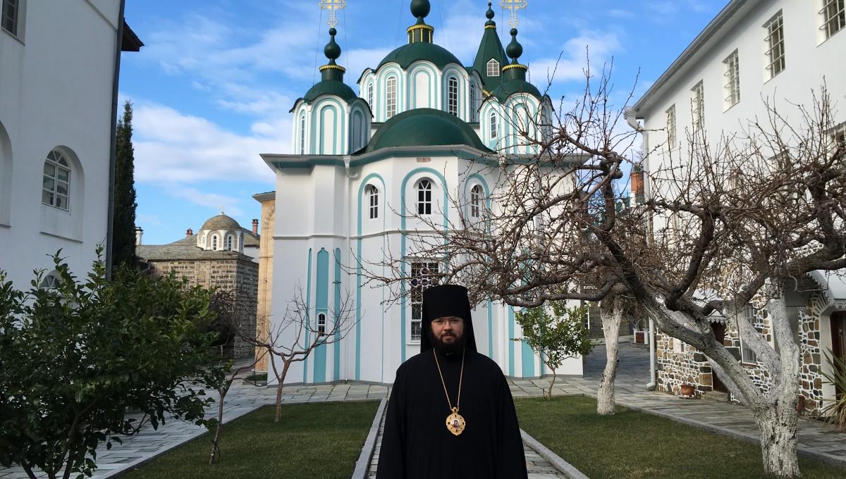 Епископ Антоний посетил Святую Гору Афон