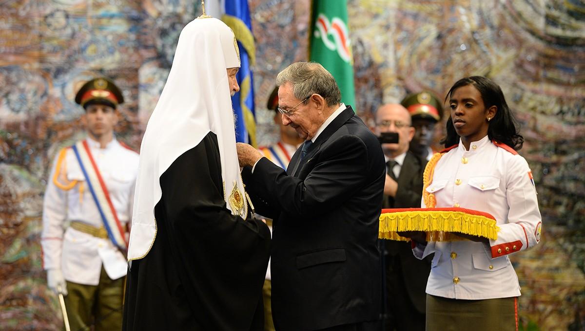 Святейший Патриарх Кирилл награжден орденом Хосе Марти
