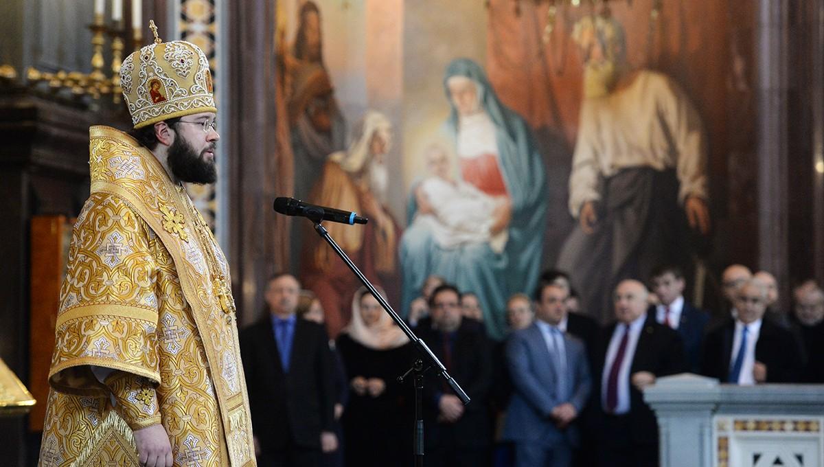 Епископ Антоний принял участие в Патриаршем богослужении