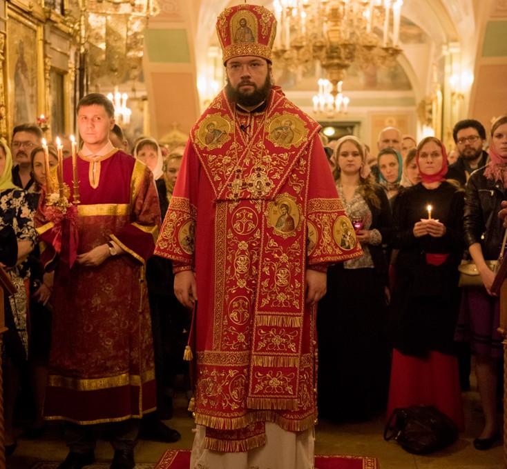Пасхальное богослужение в Иоанно-Предтеченском храме
