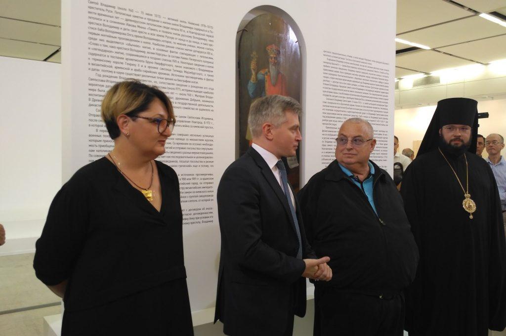 Открытие выставки русских икон в Манеже