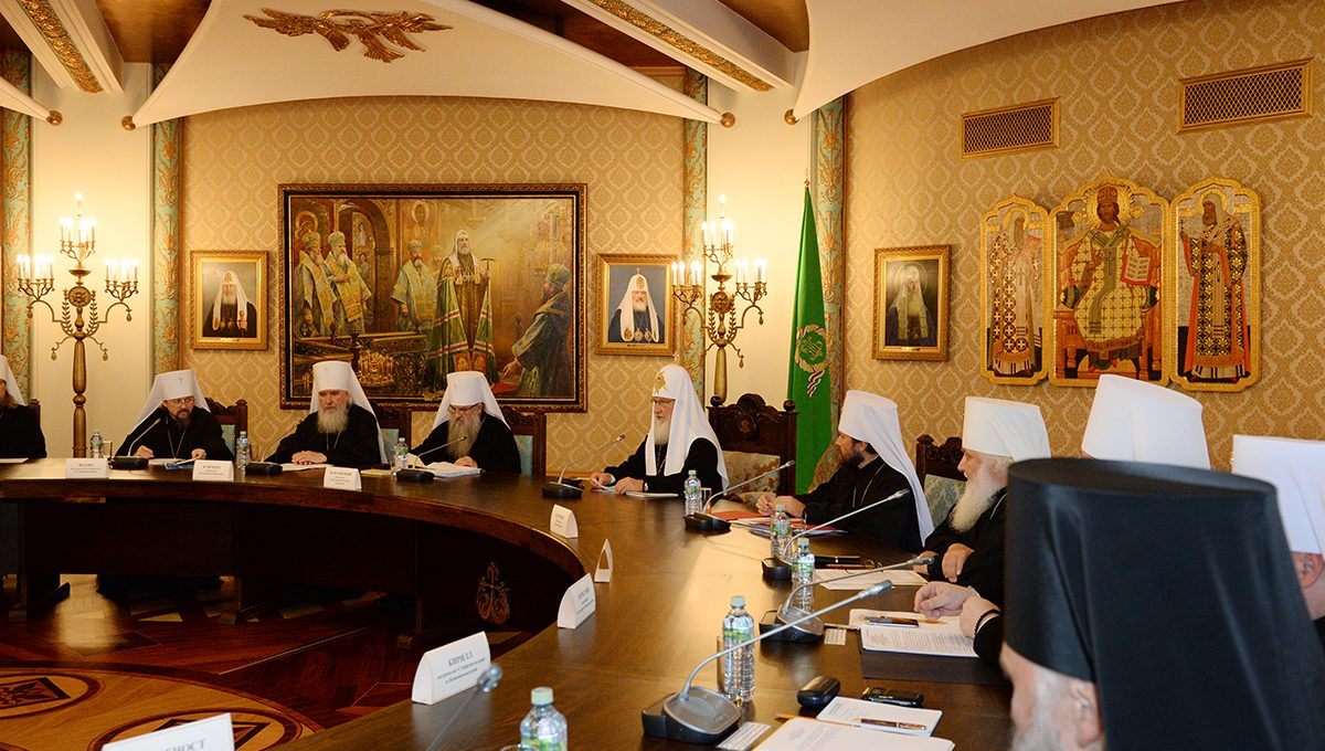 Состоялось заседание Высшего Церковного Совета
