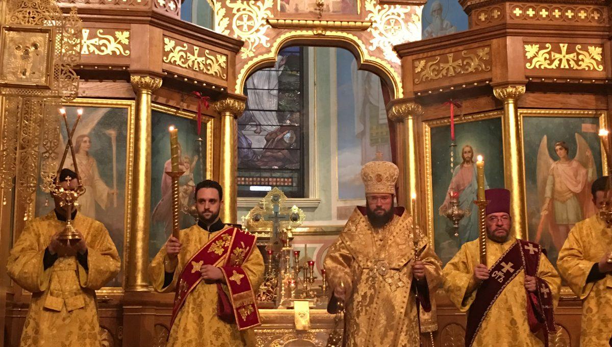 Всенощное бдение в Свято-Николаевском соборе Нью-Йорка