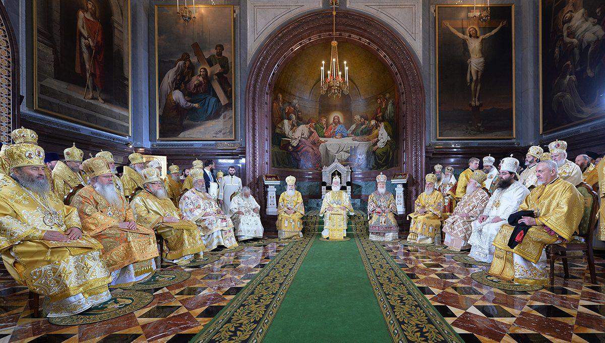Богослужение в день 70-летия Святейшего Патриарха Кирилла