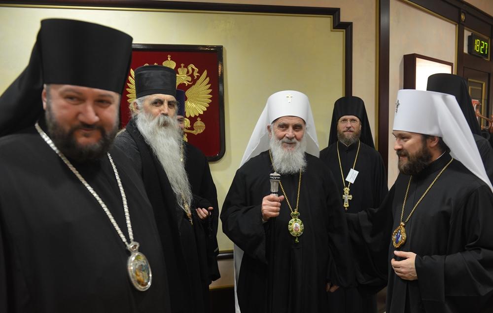Святейший Патриарх Сербский Ириней прибыл в Москву