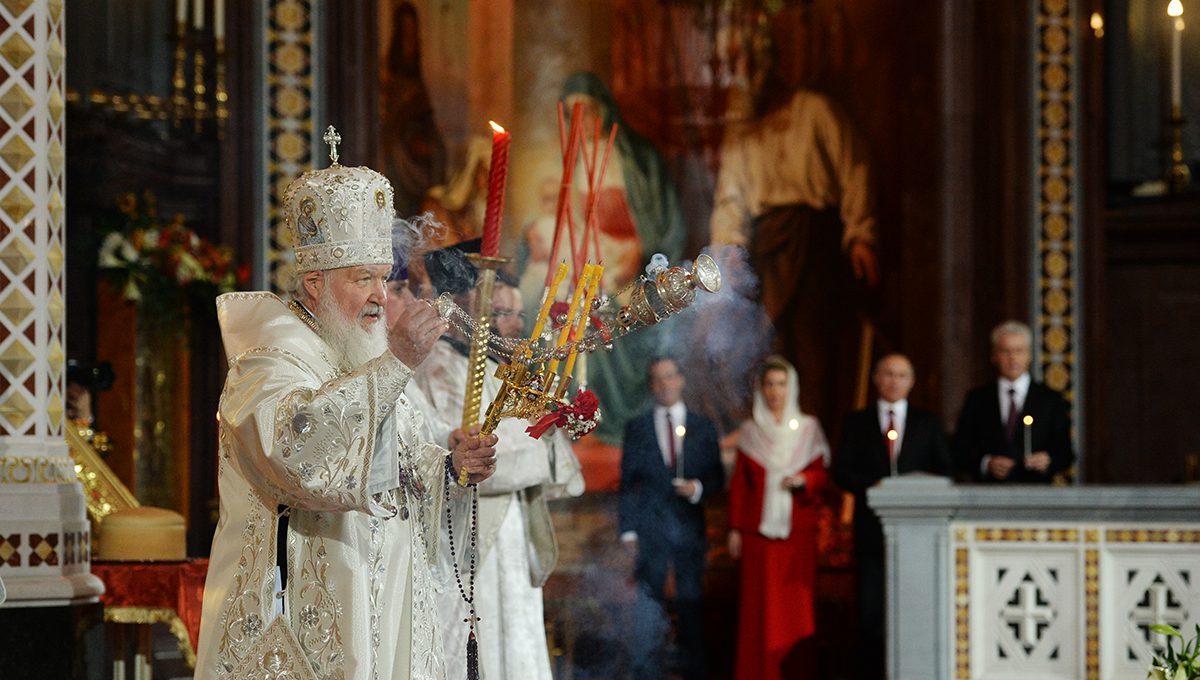 Патриаршее богослужение в праздник Светлого Христова Воскресения
