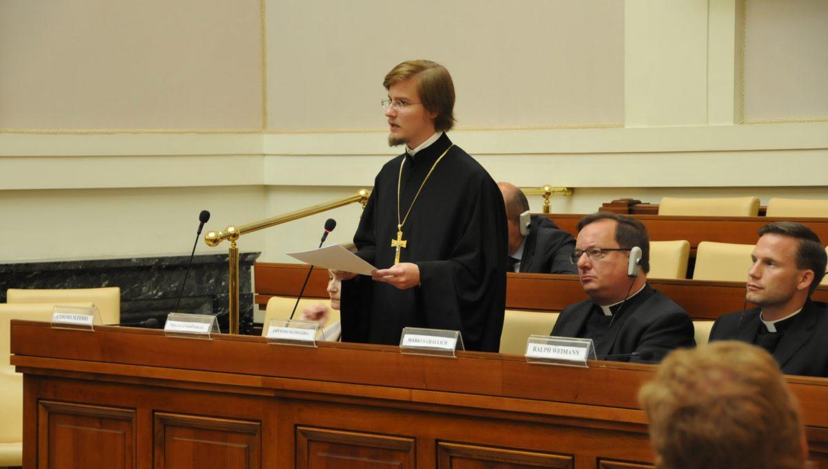 Ключарь храма выступил с докладом на международной конференции в Ватикане