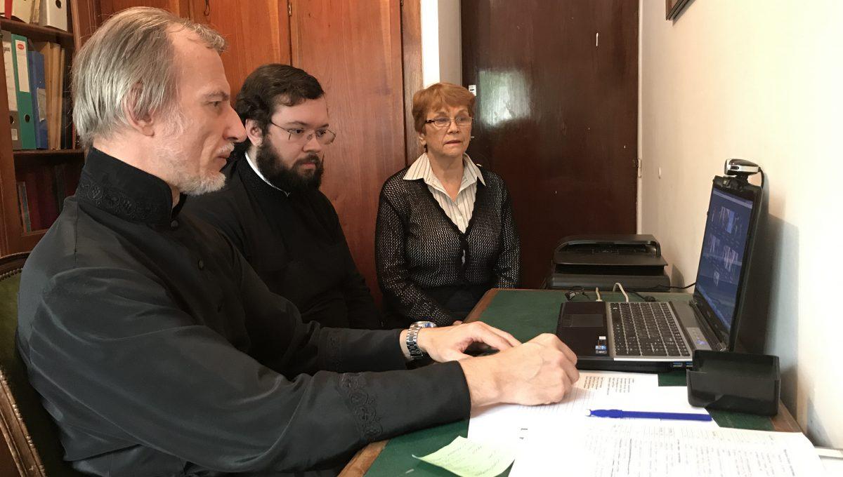 Видео-конференция с клириками Аргентинской епархии