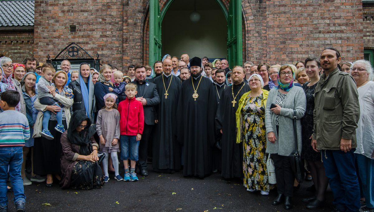 Архиерейское богослужение в Осло