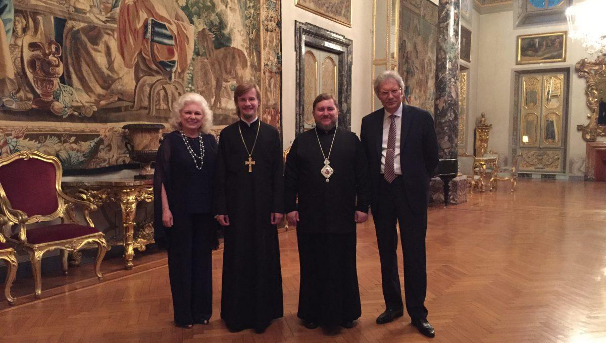 Посол РФ с супругой приняли епископа Богородского Матфея на вилле Абамелек