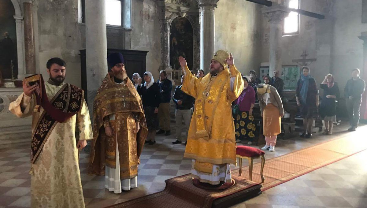 Епископ Богородский Матфей совершил Литургию в храме святых Жен-Мироносиц в Венеции