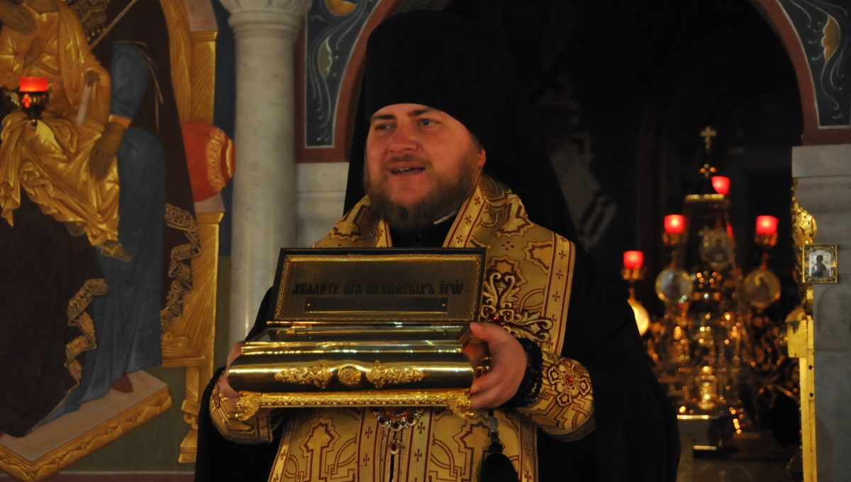 Преосвященный Матфей совершил акафист у мощей святителя Феофана Затворника