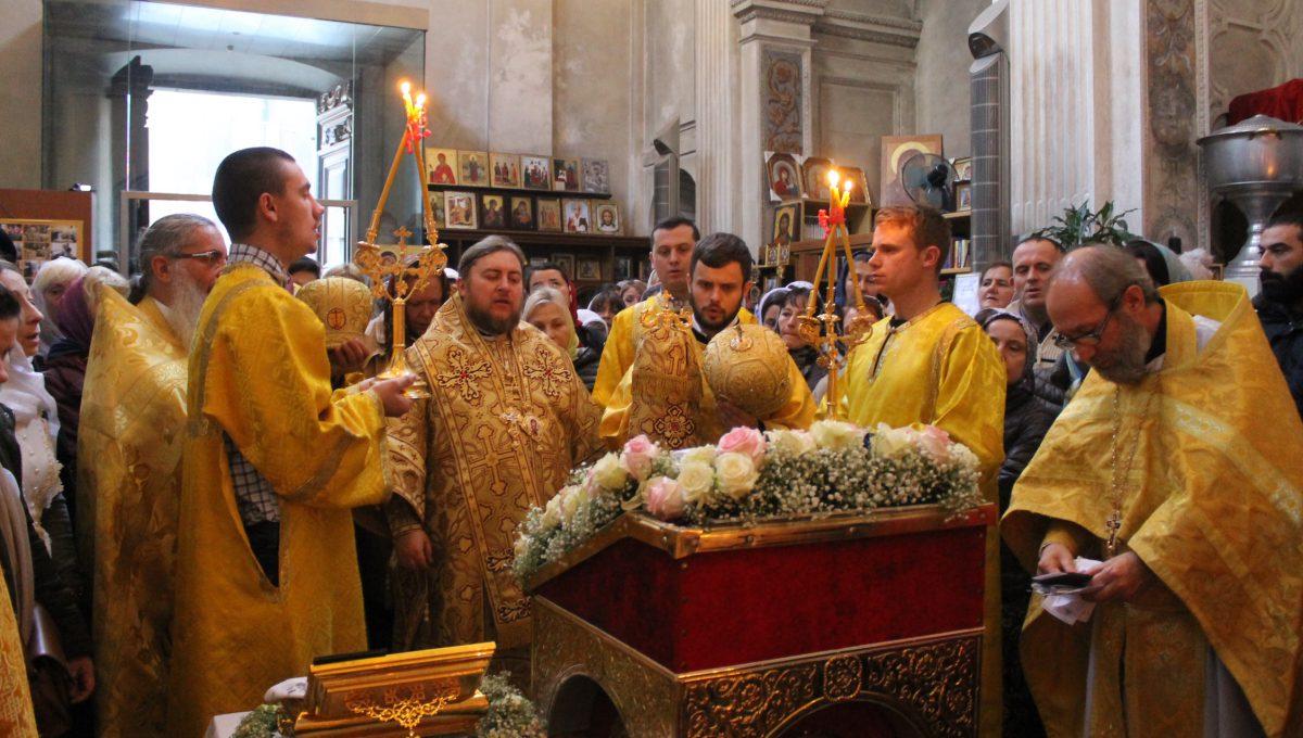 Епископ Матфей совершил воскресную литургию в Милане