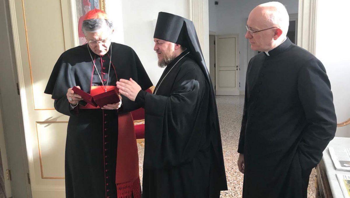 Епископ Богородский Матфей встретился с Патриархом Венеции