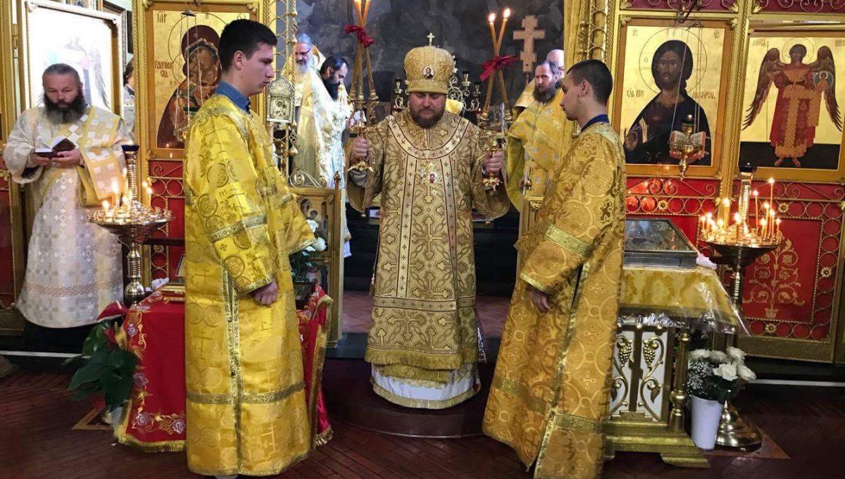 Епископ Матфей совершил Божественную литургию в Милане