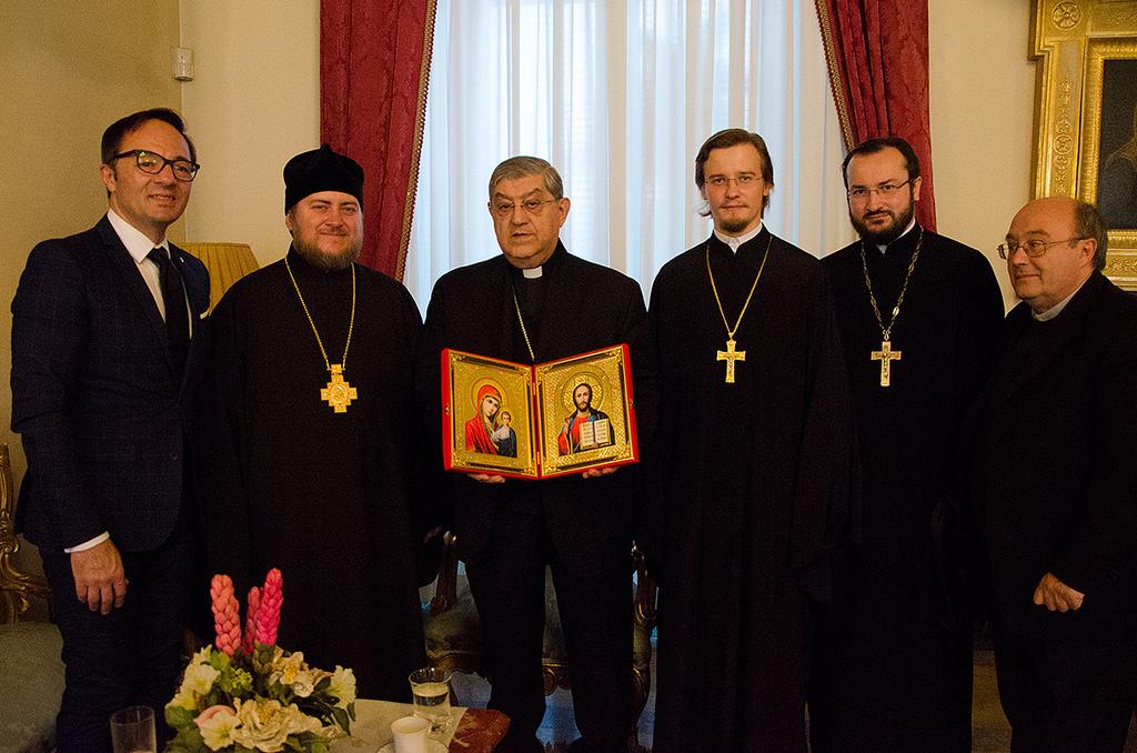Кардинал Неаполя принял епископа Богородского Матфея