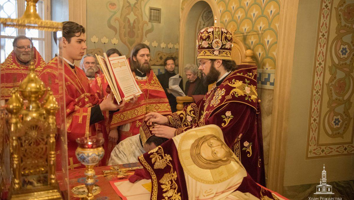 Архиепископ Антоний рукоположил клирика Екатерининского храма в сан пресвитера