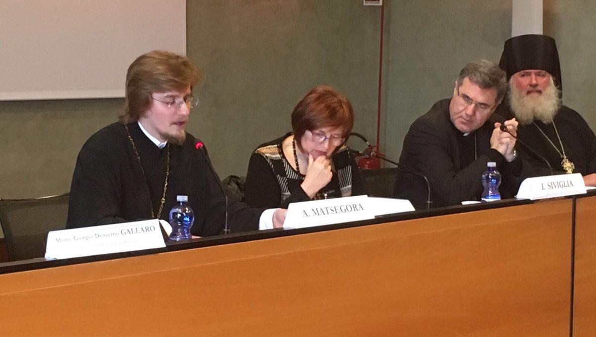 Ключарь храма выступил с докладом на международной богословской конференции в Палермо