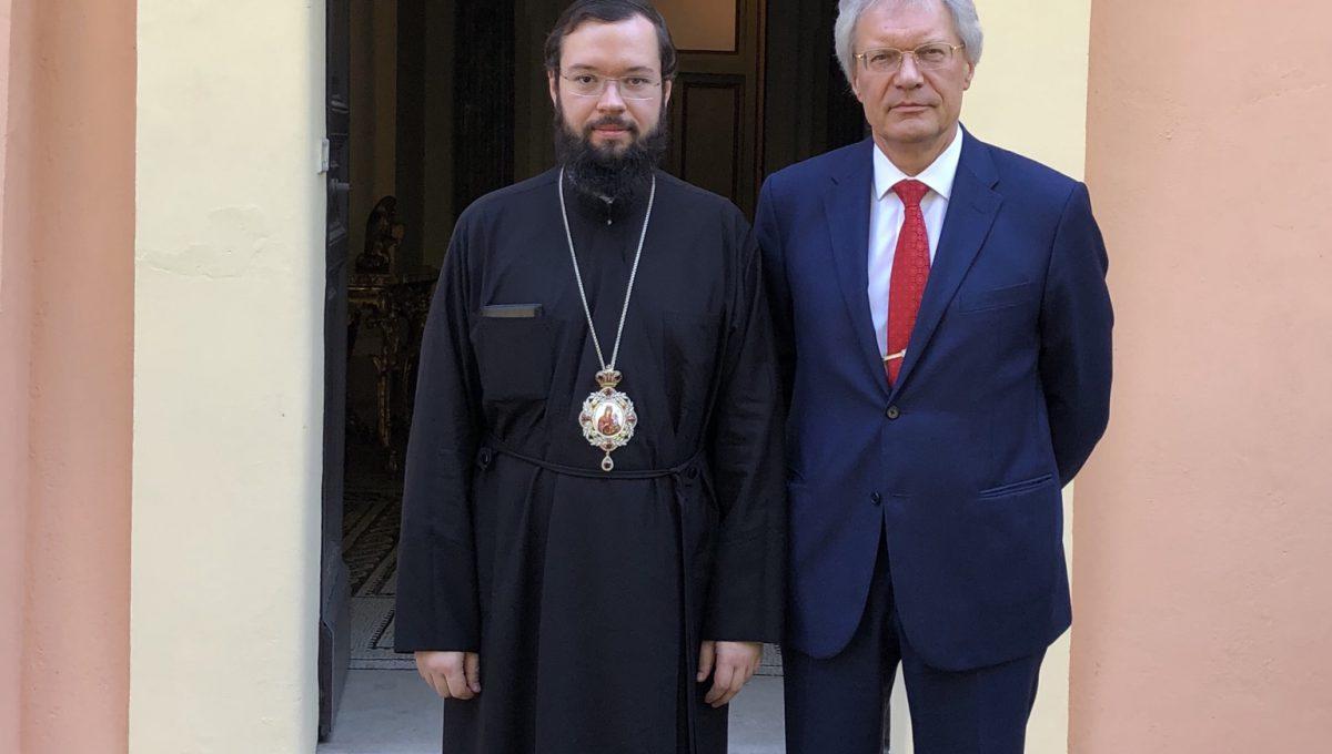 Состоялась встреча митрополита Антония с Послом России в Италии