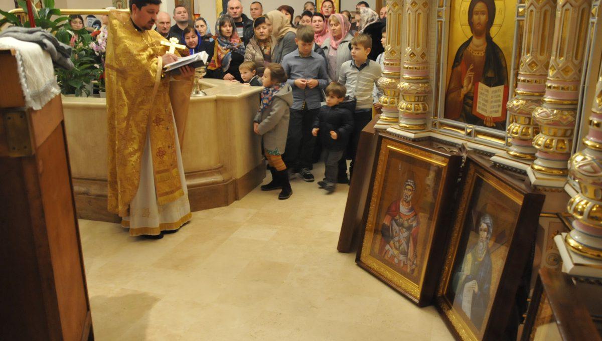 В храме святых Константина и Елены были освящены новые иконы