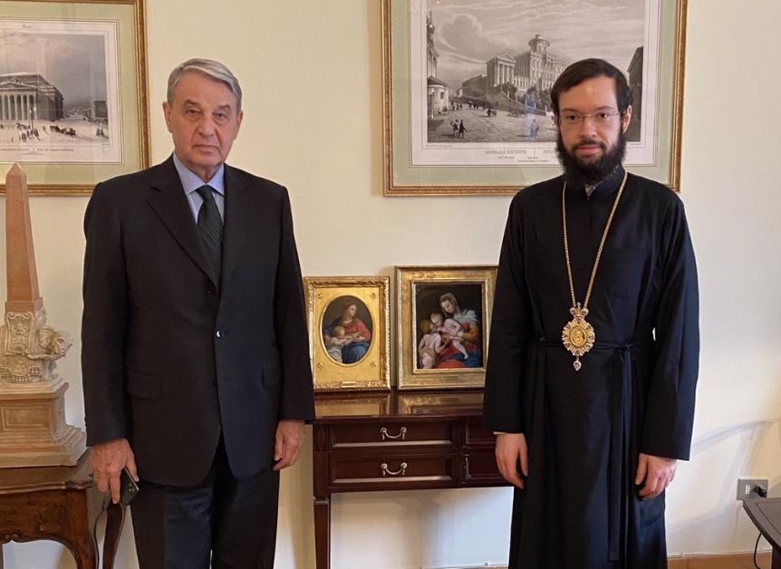 Состоялась встреча митрополита Антония и Посла России в Ватикане А.Авдеева