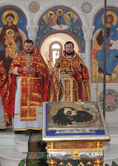 Богослужение в день Усекновения главы Иоанна Крестителя