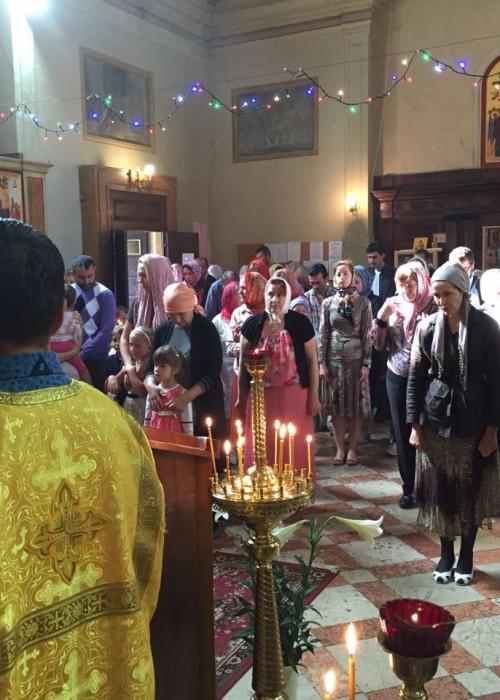 Архиерейское богослужение в Вероне