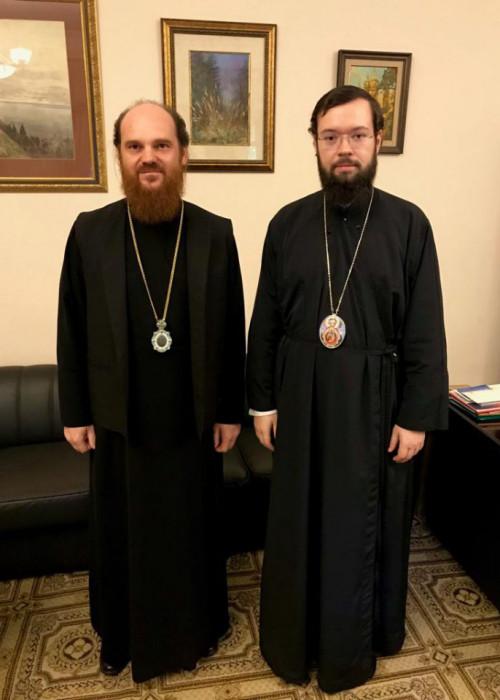 Патриарший Экзарх Западной Европы провёл рабочую встречу с епископом Богородским Амвросием