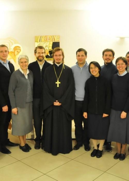 Ключарь храма встретился со студентами, изучающими Восточные Церкви